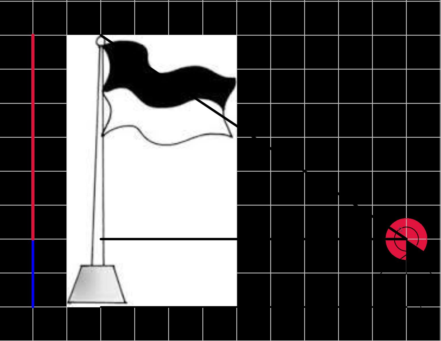 Mengukur Tinggi Tiang Bendera Menggunakan Konsep Trigonometri