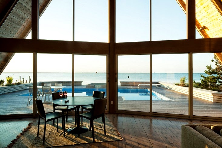 A-Frame Project by Bromley Caldari Architects in Fire Island, NY