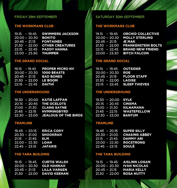 Hard Working Class Heroes Timetable Line-Up 2017 HWCH