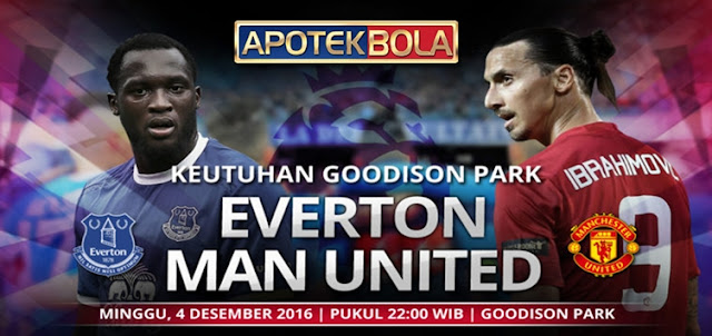 Prediksi Pertandingan Everton vs Manchester United 4 Desember 2016