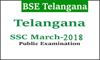 Telangana SSC Time Table 2018