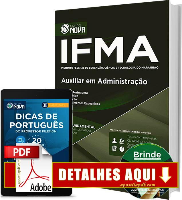 Apostila IFMA 2016 Auxiliar em Administração Impressa
