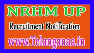 NRHM UP Recruitment Notification 2017