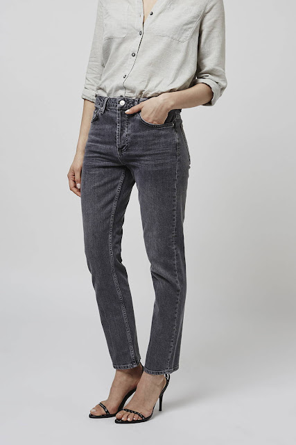 grey straight jeans, topshop grey jeans,