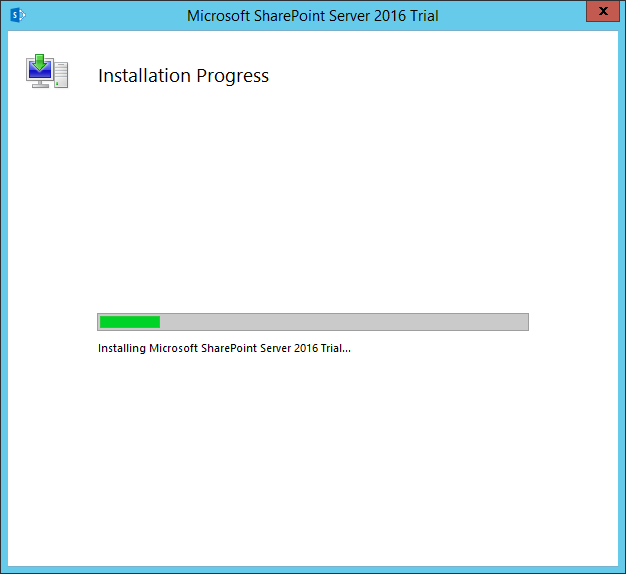 sharepoint 2016 installation on windows server 2016