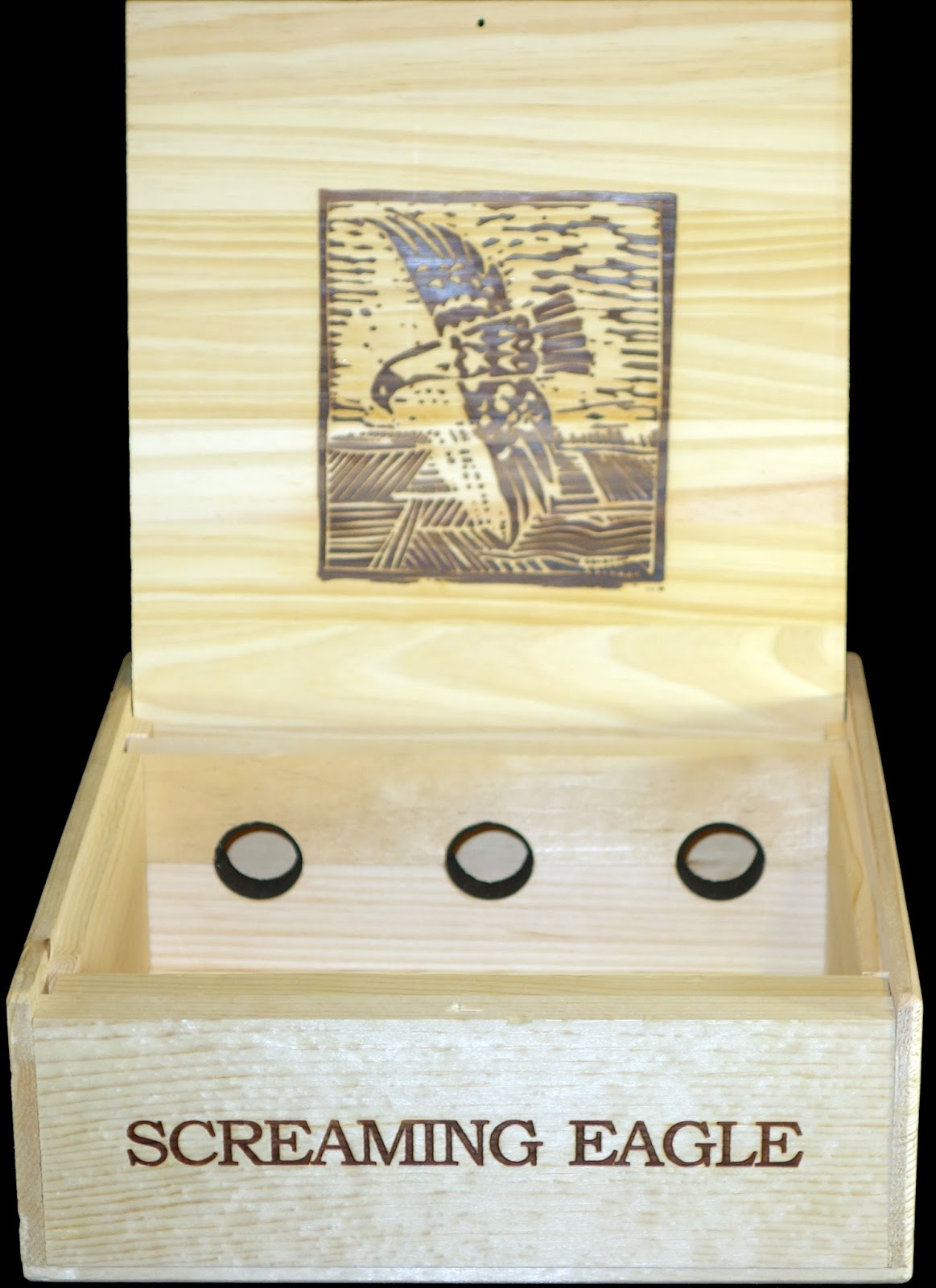 Wine Crates And Boxes Screaming Eagle Wooden Wine Box