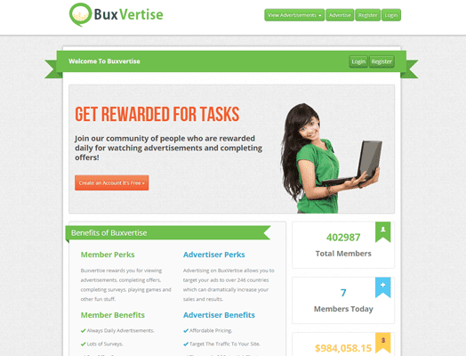 Bux Vertise PTC Paid To Click