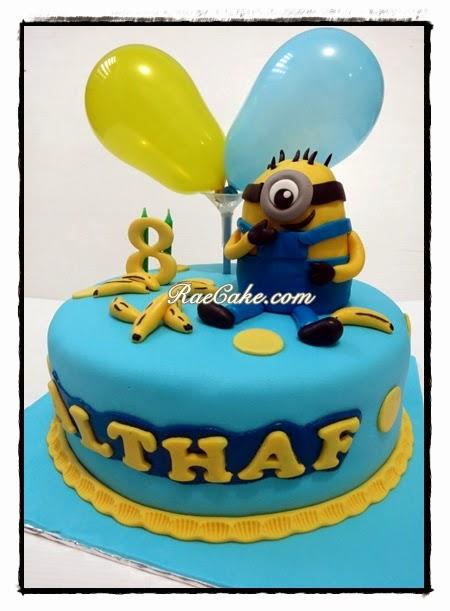 Minnion Cake For Althaf Kue Ulang Tahun Birthday Cake