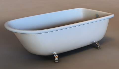 bathtub 3d model free