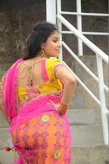 Actress Sumi Ghosh Pictures in Half Saree at Lovers Park Movie Opening  0186.JPG