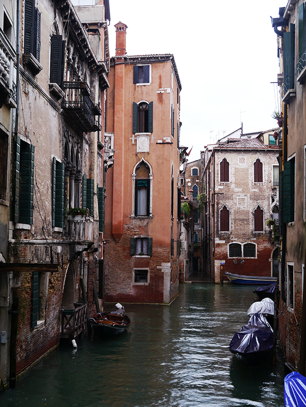 Venetian architecture around an alley