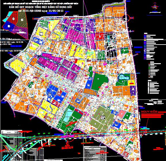 Bản đồ quy hoạch phường Hiệp Thành