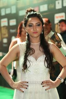 Meghana Gaonkar looks super cute in Transparent Deep neck Dress at IIFA Utsavam Awards 2017
