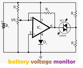 Circuit diagram battery voltage monitor