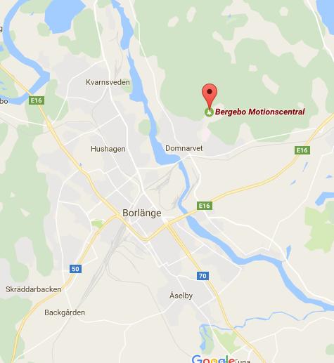 Karta Borlange.Trail St Borlange Bergebo 10 Km