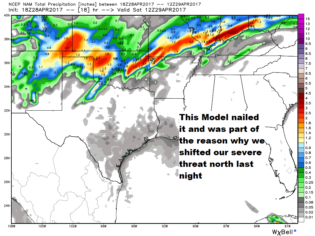 so maybe this model nam is going to handle this entire weekend forecast better i sure hope so because it only gives us 1 2 of rainfall