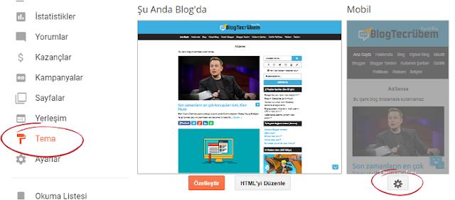 Blogger mobil tema seçimi