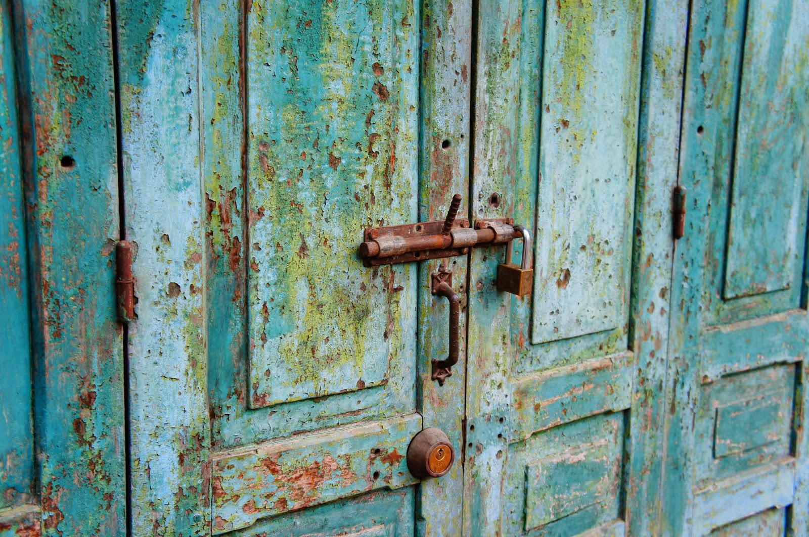 Luang Prabang - I love looking at weather-beaten doors