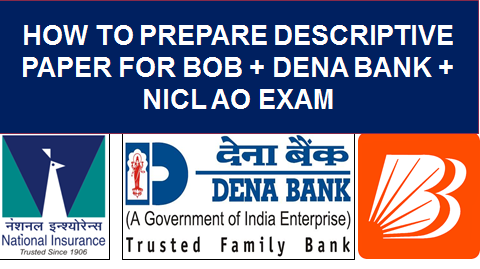 HOW TO PREPARE DESCRIPTION FOR BANK EXAM
