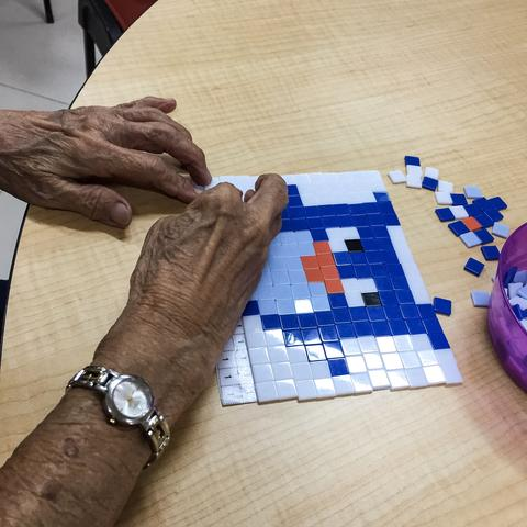 Mosaic Art with Seniors