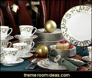 Holly and Berry Gold 40 Piece Dinnerware Set  christmas kitchen decorations - Christmas table ware - Christmas mugs  - Christmas table decorations - Christmas glass ware - Holiday decor - Christmas dining - christmas entertaining - Christmas Tablecloth - decorating for Christmas - Cookie Cutters