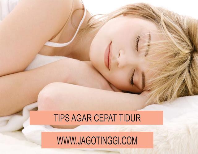 tips agar cepat tidur untuk pertumbuhan tinggi badan maksimal