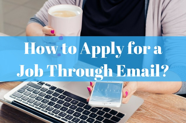 how to start e-mail when applying for a job