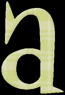 Abecedario a Cuadros. Checkered Alphabet.