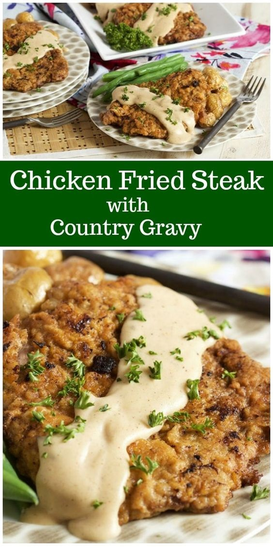 Chicken Fried Steak With Country Gravy
