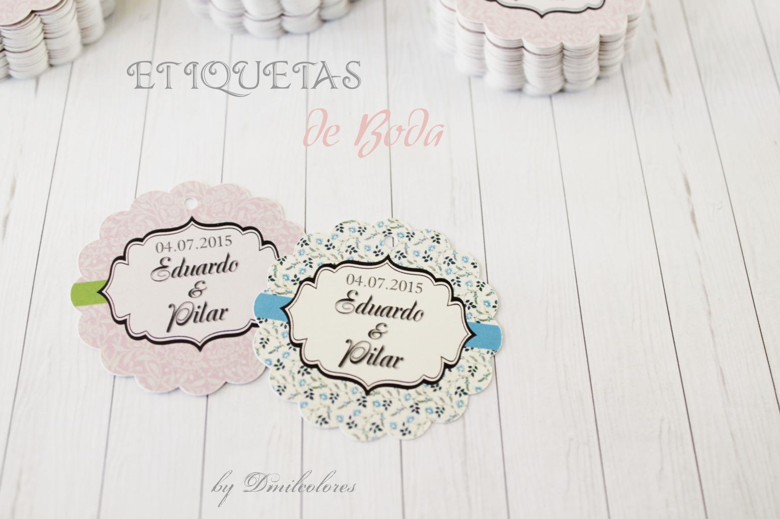 etiquetas personalizadas bodas