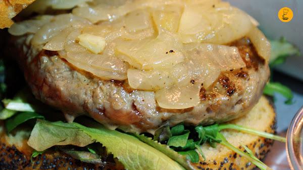 Hamburguesa la Francesa en Cafetería HD, Cafetería HD Madrid