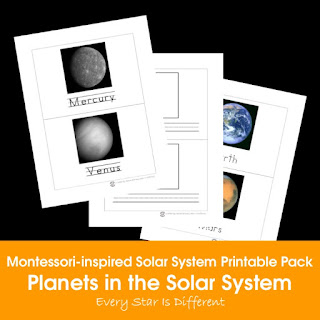 Montessori-inspired Solar System Printable Pack: Planets in the Solar System