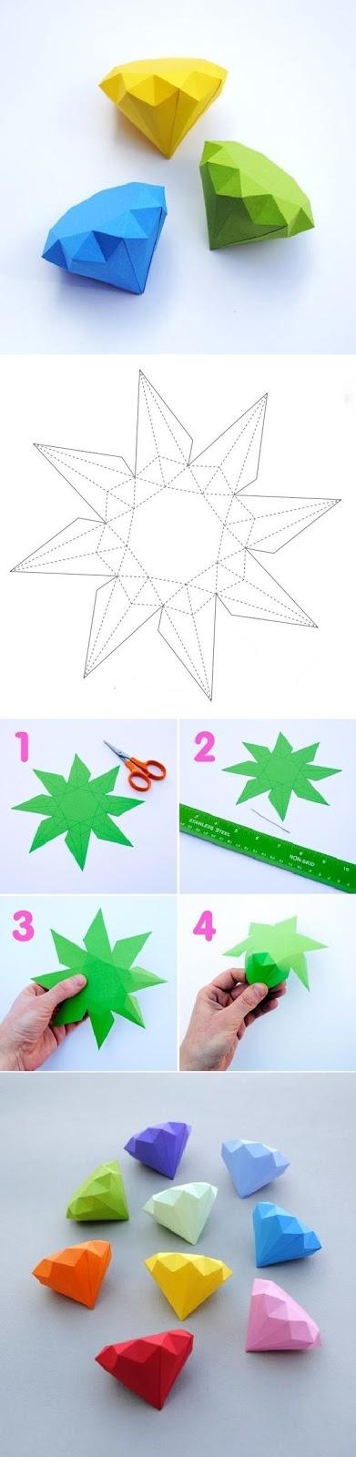 Cách làm kim cương giấy