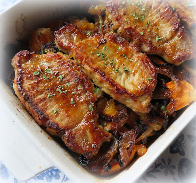 Pork Chops Baked with Sweet Potatoes