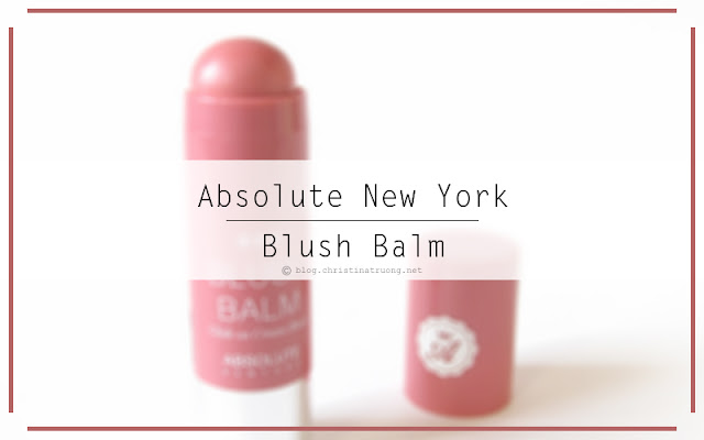 Absolute New York Blush Balm in ABSB02 Spiced Rose Review and Swatch