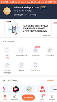 Freecharge home page features image