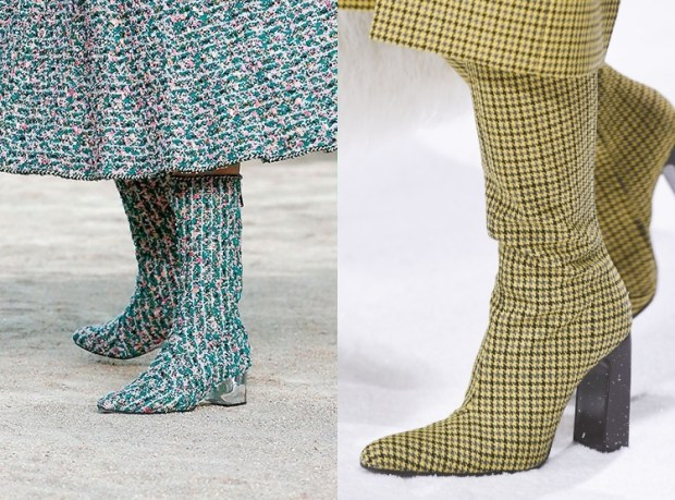 Fall-Winter 2018-2019 Women's Textile Boots Fashion Trends