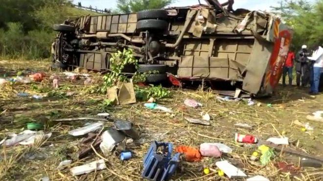 Kenya bus crash kills at least 40 en route to Kisumu