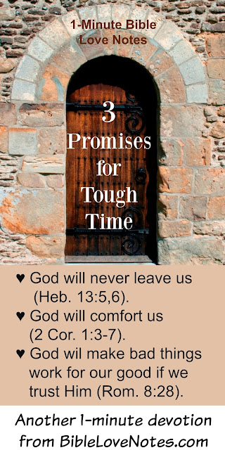 3 promise for tough times, 3 promises of Christ