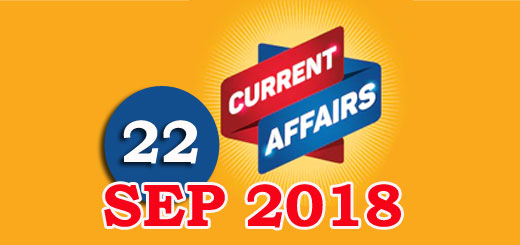 Kerala PSC Daily Malayalam Current Affairs 22 Sep 2018