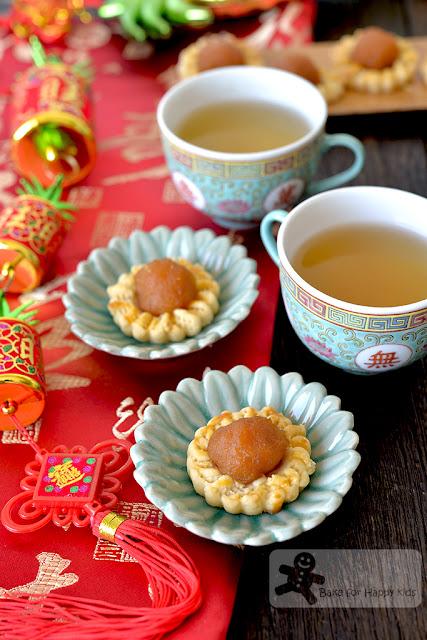 melt in the mouth gula Melaka pineapple tarts open faced