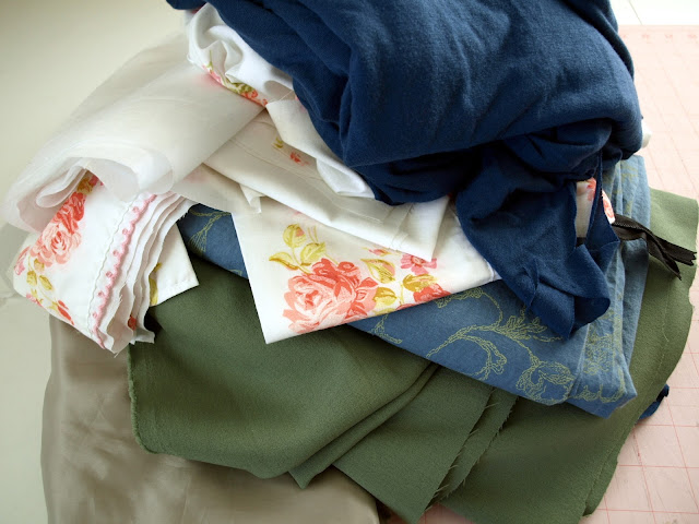 Fabric stash that needs organizing