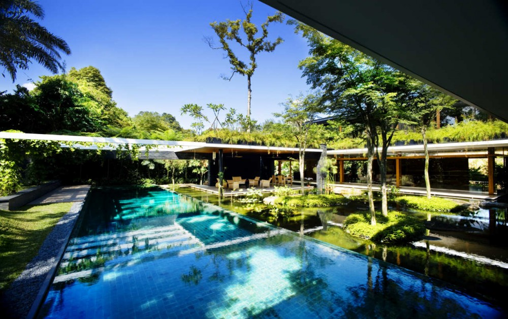 Luxury Sustainable Green Roof House Design Singapore Most Beautiful Houses In The World