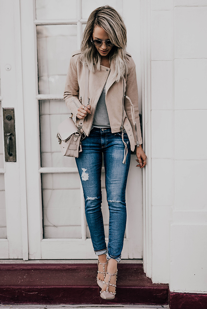 Ripped jeans wearing to the office? Why not?