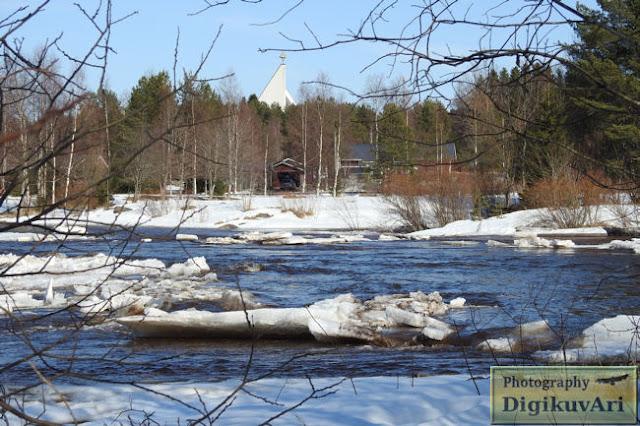 Pyhäjoki, pohjoishaara, jäät, jäidenlähtö  19.04.2018
