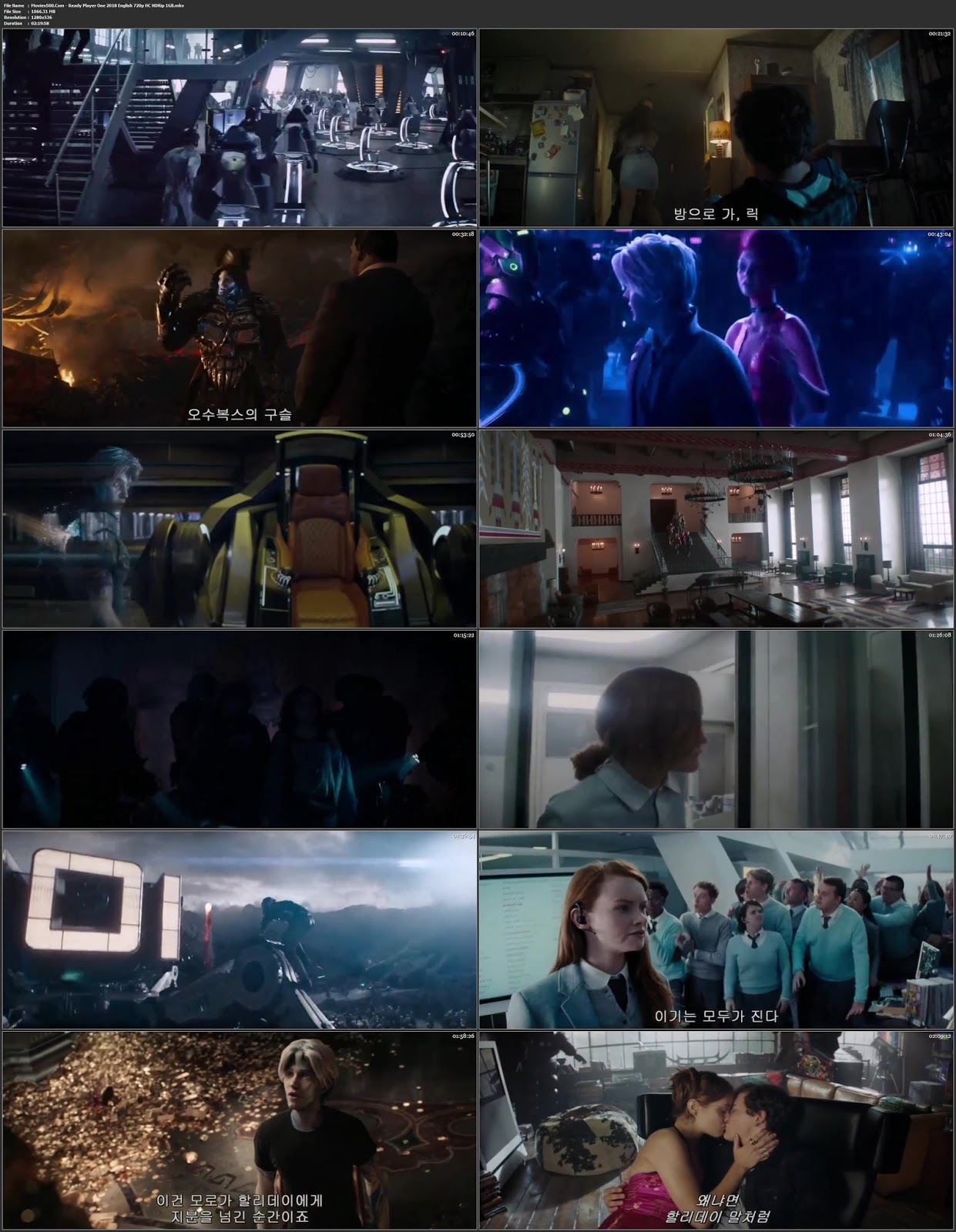 Ready Player One 2018 Hollywood 300MB HC HDRip 480p at movies500.site