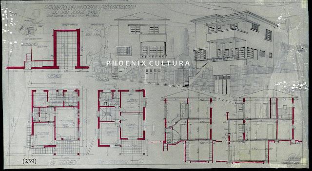Projeto de um prédio para residência à rua Graciano Neves, Vitória, ES, proprietário Jorge Amon, agosto/1939.