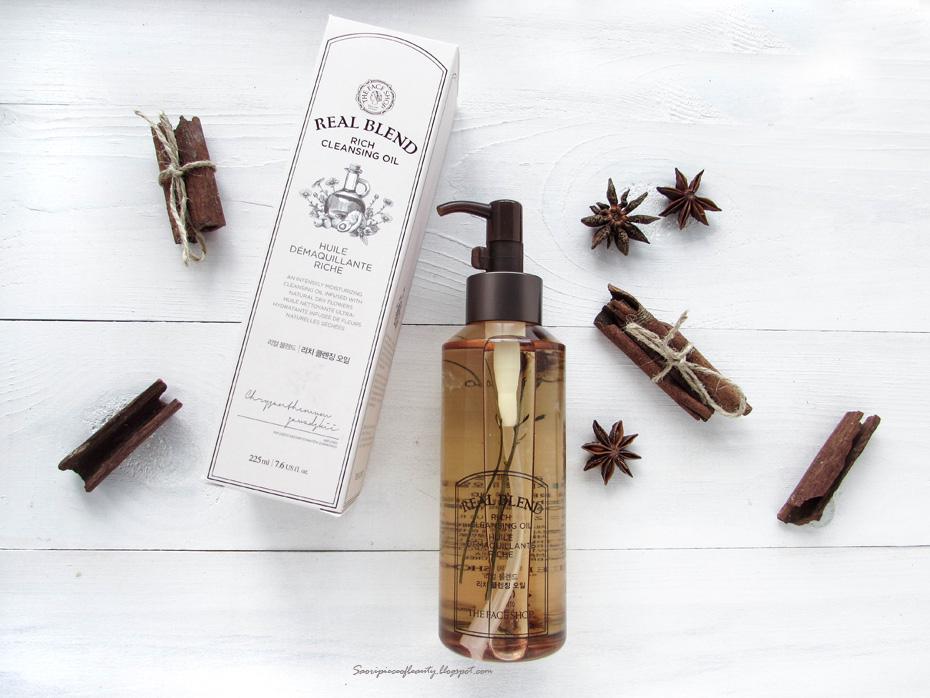 Питательное гидрофильное масло Real Blend Rich Cleansing Oil от The Face Shop / блог A piece of beauty