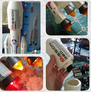 playmobil space center  rocket and module