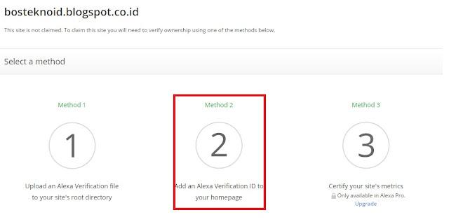 Cara Daftar dan Verifikasi Blog di Situs Alexa
